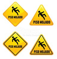 Sign,Slippery,Safety,Road W...