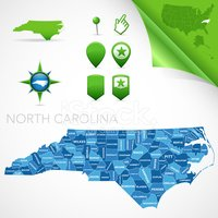 North Carolina,Cartography,...