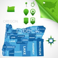Oregon,counties,Cartography...