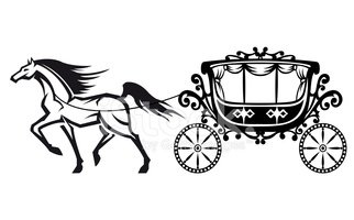 Horse with vintage carriage