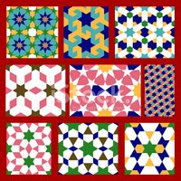 Morocco,Tile,Islam,Pattern,...