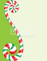 Curly Candy Cane Vertical Frame