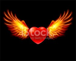 Heart Shape,Wing,Flame,Wing...