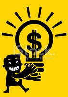 Currency,Ideas,Light Bulb,I...