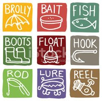 Boot,Fishing Bobber,Ilustra...