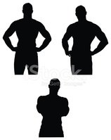Muscular Build,Silhouette,A...