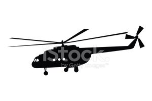 Vector of a helicopter in flight