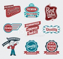Retro vintage premium quality label badge designs