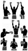 Boxing,Silhouette,Boxing Gl...