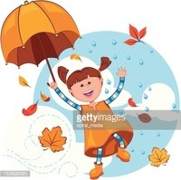 Orange,Umbrella,Cheerful,Fl...
