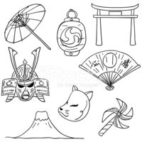 Fan,Japan,Doodle,Japanese C...