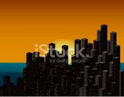 Urban Skyline,Night,Archite...
