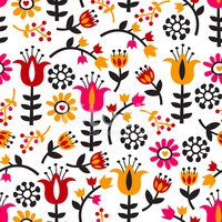 Seamless,Floral Pattern,Ret...