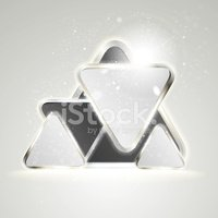 Triangle,Chrome,Metallic,Ab...