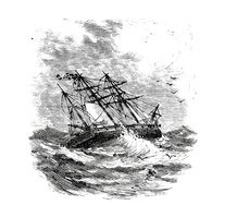 Sailing Ship,Engraved Image...