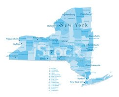 Cartography,Map,New York St...