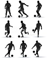 Soccer Player,Silhouette,Sp...