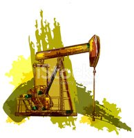Drilling Rig,Ilustration,Oi...