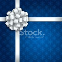 Bow,Bow,Gift,White,Blue,Chr...