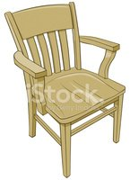 Chair,Wood - Material,Arm,C...