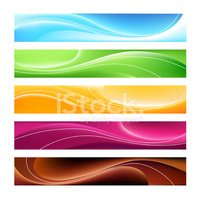 Five Colorful Banners