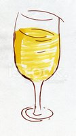 Wineglass,Watercolor Paints...