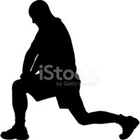 Stretching,Men,Silhouette,V...
