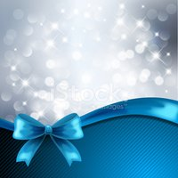 Blue,Christmas,Ribbon,Gift,...