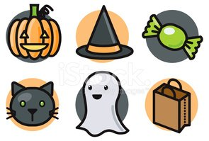 Halloween,Ghost,Candy,Domes...