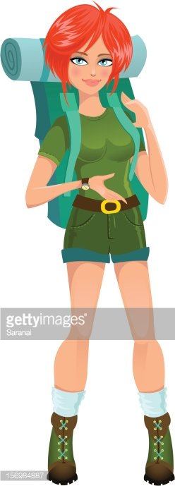 Woman Tourist With Backpack stock vectors - Clipart.me