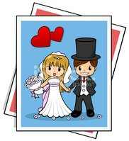 Wedding,Couple,Cartoon,Hear...