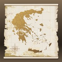 Greece,Cartography,Map,Old-...