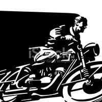 Motorcycle,Men,Line Art,Spe...