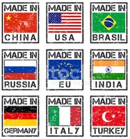 Rubber Stamp,Brazil,USA,Ger...