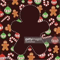 Cookie,Christmas,Brown,Cut Ou…