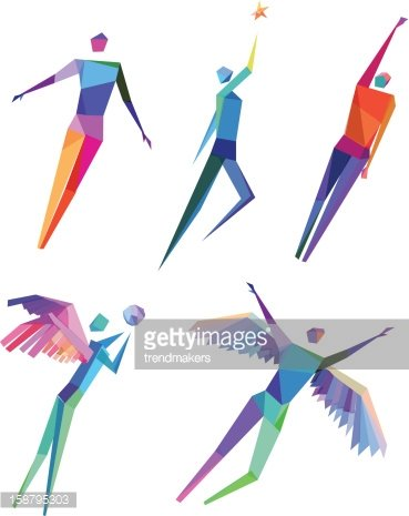 Concept Polygonal People Stock Vectors
