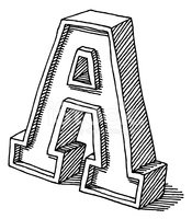 Letter A,Ilustration,Drawin...