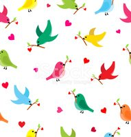 Pattern With Flying Birds Clipart Images