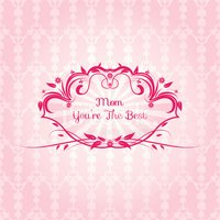 Mother's Day Label On Seamless Background