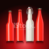 Bottle,Red,Beer - Alcohol,L...