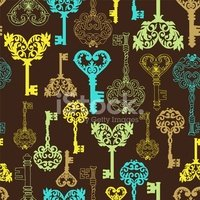 Key,Old,Floral Pattern,Repe...