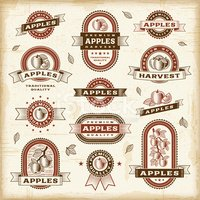 Old-fashioned,Label,Apple -...
