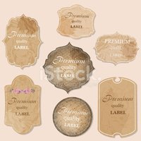 aged paper labels vector illustration