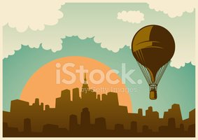 Hot Air Balloon,Retro Reviv...