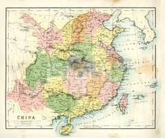 Map,Cartography,China - Eas...