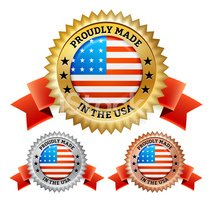 Made in America royalty free vector icon set