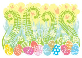 Easter,Cheerful,Urban Scene...