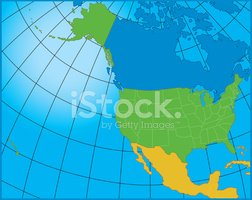 Map,USA,Canada,North Americ...