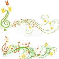 Music spring. Stock vectors clipart me