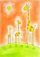 Giraffe,Greeting Card,Young...